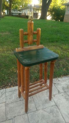 Bedford Or Columbus Hickory Nightstand With Lamp. From Johnu0027s Rustic  Antiques.