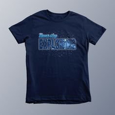 Never Stop Exploring - Kids/Youth Navy T-Shirt