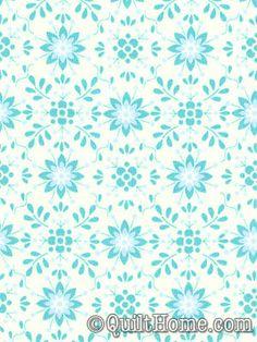 PILLOW  Pretty Little Things PWDF125-Aqua Fabric by Dena Designs