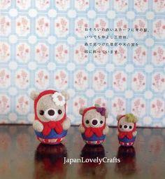 Needle Wool Felt Matryoshka Mascot Doll by JapanLovelyCrafts