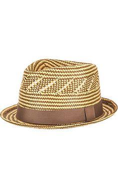 Black Rivet Multi-Color Patterned Straw Hat - Wilsons Leather