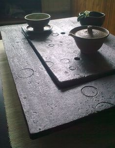 Poetry in Tea: Wood-fired Ceramic Tea Tray by Mirka Randová