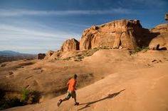 Slickrock trail running