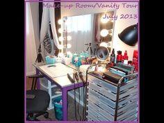 Make-up Room Tour/Vanity Tour & Make-up Collection
