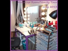 Make-up Room Tour/Vanity Tour & Make-up Collection! - YouTube