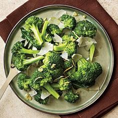 Lemon-Parmesan Broccoli Recipe | MyRecipes.com  Very tasty- hit with Reagan!  Accidentally added salt and lemon juice to marinate overnight and cooked with broccoli.  Will try other versions nExt time!
