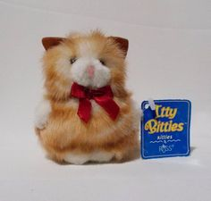 Russ Itty Bitties Kitties Plush Kitty Cat Stuffed Animal 522 Orange Tabby #Russ #ittybitties #kitties #plush