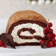 Heavenly Holiday Desserts   Chocolate Roulade   SouthernLiving.com