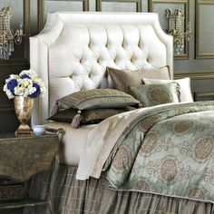 luxury button tufted beds | ... to Know about Tufted Headboards | Home Designs and Furniture Gallery