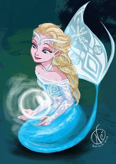 Mermaid Elsa