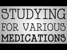 ▶ Nursing School | Studying For Medications - YouTube