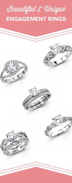 Engagement Rings : Check out these unique engagement rings with stunning bands by Simon G. Jewelry!