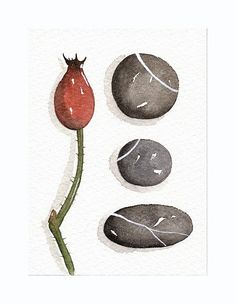 Original Watercolor ACEO Miniature Art - Collection No.42 - Painted by Lorisworld. $13.00, via Etsy.