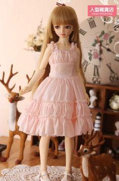 1 4 MSD DOD MK BJD Jumper Skirt Evening Dress Lolita Doll Dollfie Luts Pink | eBay  make a dress like this