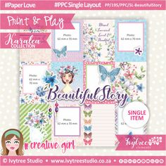 Kempton Park, Pocket Cards, Beautiful Stories, Printable Paper, Order Prints, Paper Crafts, Printables, Layout, Collections