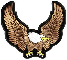 Brown Upwing Eagle Vest Patch | Embroidered Patches