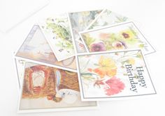 Blank inside Note cards, Greeting Cards, Stationary, Pretty Notes