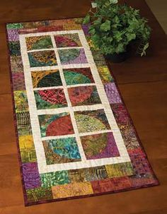 WINDOW WITH VIEW TABLE RUNNER PATTERN