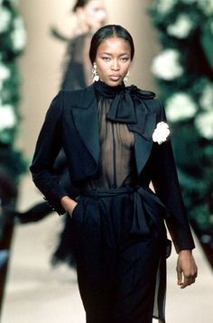 Naomi Campbell Yves Saint Laurent SS1999. Vintage fashion