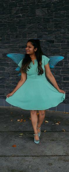 Tinker Bell Halloween Costume Mint dress, Tinker bell and - green dress halloween costume ideas