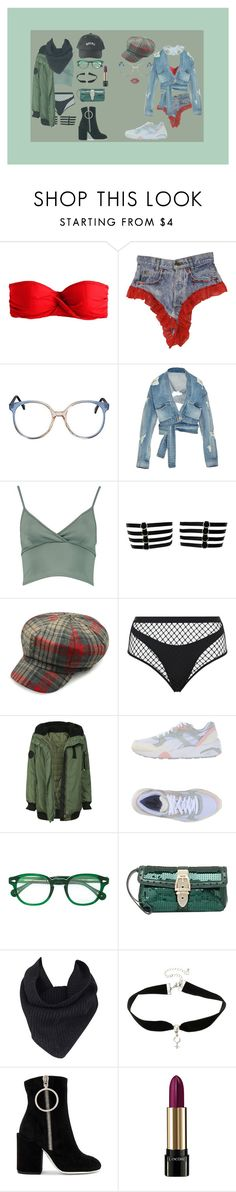 """""""Untitled #148"""" by jack-rabbit ❤ liked on Polyvore featuring J.Crew, Jonathan Simkhai, Boohoo, Agent Provocateur, Puma, Moscot, Gucci, A.L.C., Dries Van Noten and Off-White"""