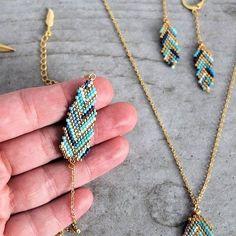 Le produit Bracelet plume tissé en perles de verre Miyuki est vendu par My-French-Touch dans notre boutique Tictail.  Tictail vous permet de créer gratuitement en ligne une boutique de toute beauté sur tictail.com