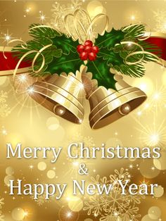 Send Free Golden Christmas Bell Card to Loved Ones on Birthday & Greeting Cards by Davia. Merry Christmas Message, Merry Christmas Pictures, Merry Christmas Happy Holidays, Merry Christmas Greetings, Christmas Blessings, Christmas Messages, Christmas Bells, Christmas Holidays, Christmas Cards