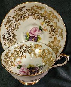 Vintage circa 1940's PARAGON Tea Cup & Saucer HM Queen and Queen Mary