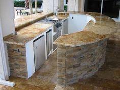 granite outdoor kitchens | Florida Outdoor Kitchen Design Company, We Build Outdoor Kitchens ...