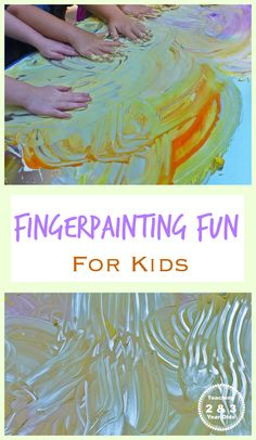 This 2-ingredient finger paint is perfect for the outdoors. Just hose it off when done. Super fun and easy!