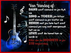 Afrikaanse Inspirerende Gedagtes & Wyshede: Verjaarsdae Birthday Wishes Quotes, Wish Quotes, Singing, Afrikaans, Words, Blessings, Google Search, Gift, Image