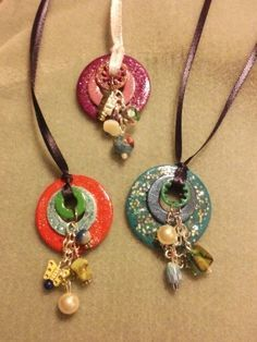 Washer pendants tutorial this is the best one yet on washer beaded washer necklace google search aloadofball Choice Image