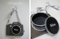 Ideas and Inspirations: DIY camera as a gift * upcycling camera as give aw . - Ideas and Inspirations: DIY camera as a gift * upcycling camera as give away - Diy Birthday, Birthday Cards, Ideas Scrapbook, Camera Cards, Paper Camera, Aunt Gifts, Fathers Day Cards, Scrapbooking, Cool Diy