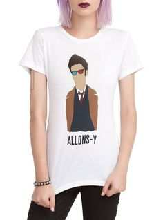 Doctor Who Tenth Doctor Allons-y Silhouette Girls T-Shirt
