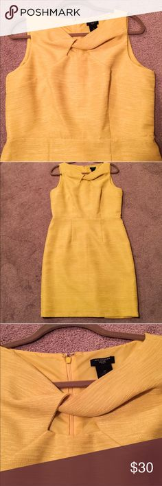 Yellow Ann Taylor dress Gorgeous Ann Taylor dress that I used for a day beach wedding in Cancun Ann Taylor Dresses Midi