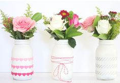 Homemade Valentines Day Gifts in a Jar - Flowers in a Jar - DIY Valentines Day Ideas