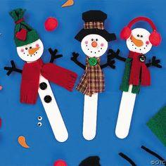 Natal - Enfeites com palito de picolé