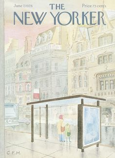 Vintage Illustration Premium Giclee Print: The New Yorker Cover - June 1976 by Charles E. Martin : - size: Premium Giclee Print: The New Yorker Cover - June 1976 by Charles E. The New Yorker, New Yorker Covers, Old Magazines, Vintage Magazines, Book Design, Cover Design, Magazine Art, Magazine Covers, Typography Prints