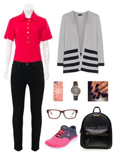 """RainyRos"" by ruriiyy on Polyvore featuring Tory Burch, Puma, FOSSIL and Samoon"