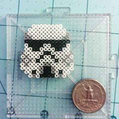 Stormtrooper Star Wars mini perler beads by kibbesnbits