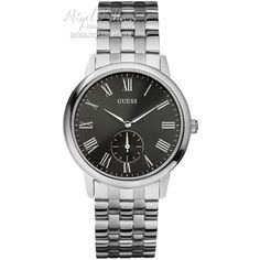 This is a very sophisicated Guess Men's Wafer Black Dial and Steel Bracelet - W80046G1 - £103.50 View this item at http://www.nigelohara.com/guess-mens-wafer-black-dial-and-steel-bracelet-w80046g1-pid18359.html Or view the entire Guess watch range at http://www.nigelohara.com/guess-watches/