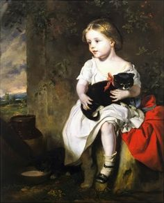 """The Pet"" - John Thomas Peele (1822-1897)  (1853, huile sur toile, New York, National Academy Museum)"