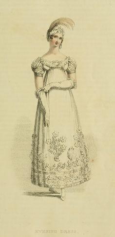 Ser2 v1 1816 Ackermann's fashion plate 5 -Evening Dress