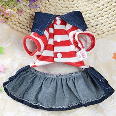 Patgoal Denim Dog Dress Striped Dog Bib Winter Autumn Cowboy Clothes for Pet Dog * See this great product. (This is an affiliate link) Chihuahua Clothes, Pet Clothes, Warm Dresses, Dog Dresses, Pet Fashion, Animal Fashion, Puppy Coats, Dog Winter Coat, Bear Costume