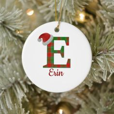 Shop Two-Sided Personalized E Name/Picture Ornament created by HeavenlySunlight. Picture Ornaments, Baby Ornaments, How To Make Ornaments, Diy Christmas Gifts, Cheap Ornaments, Ornaments Ideas, Christmas Design, Christmas Stuff, Vinyls