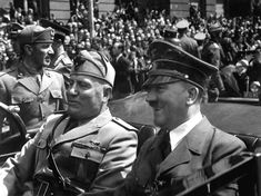 Mussolini and Hitler in the heady days of 1940 when it seemed that nothing could stop Hitler. Mussolini's military adventures, attempting to emulate his friend and ally, all soon collapsed. June 1940.