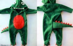 Para hacer el traje de dinosaurio, he usado un patrón mameluco que yo tenía, y luego modifiqué para que se ajuste a mis necesidades. Las ...