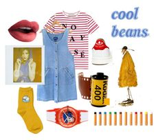 """cool beans~"" by botanicalgal ❤ liked on Polyvore featuring Être Cécile, adidas, Chicnova Fashion, Swatch, casual and primarycolors"