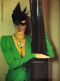 'Paris Couture At Its Most Alluring' from……………….Vogue April 1985