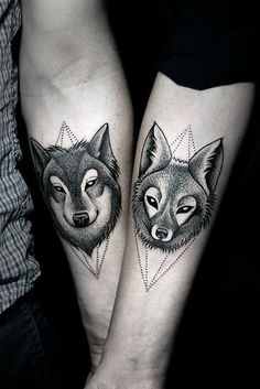 #wolf #fox #tattoo